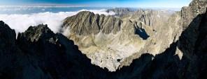 Widok ze szczytu Gerlacha w kierunku z zachodnim