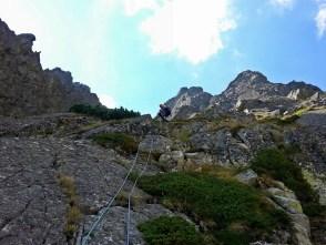 Wspinaczka na grzędzie, powyżej kopuła szczytowa