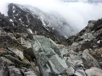 Droga zejściowa - górne partie Batyżowieckiego Żlebu