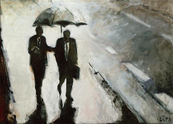 Ketten esőben
