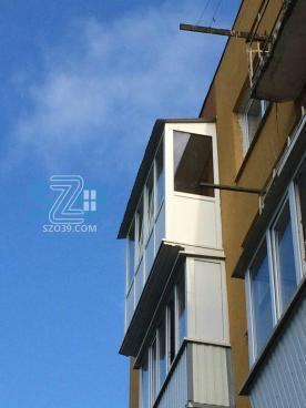 Остекление балкона с расширением, пос.Донское