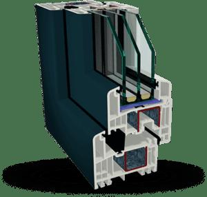 Пластиковое окно Gealan S9000