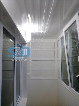 Остекление и частичная отделка балкона г. Светлый ул. Горького