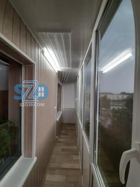 Монтаж балкона с отделкой ул.Алданская