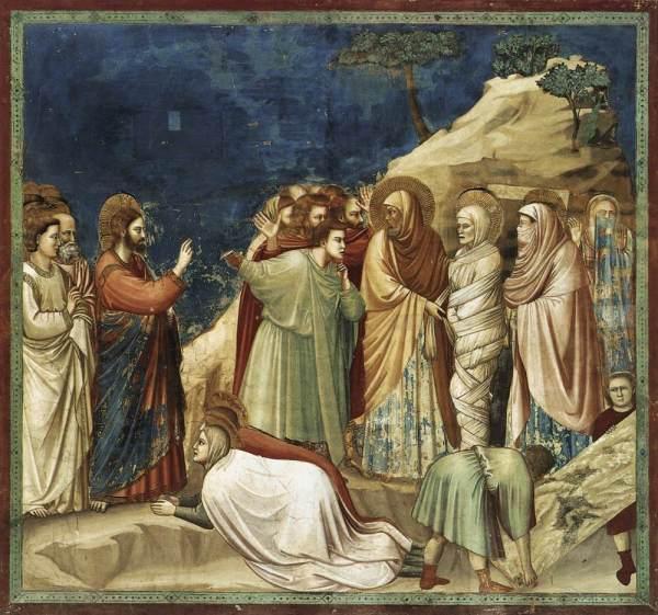 Giotto: Lázár feltámasztása