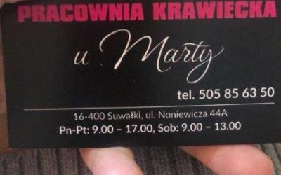 """Dziękujemy Pani Marcie z Pracowni Krawieckiej """"u Marty"""" za kolejną dostawę – tym razem dotarły do nas maseczki wykonane z udziałem antybakteryjnej przędzy polipropylenowej i poliamidowej z jonami srebra."""