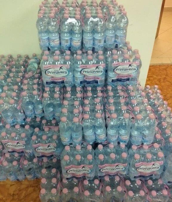 Dziękujemy firmie Porta Drzwi za dostawę wody źródlanej