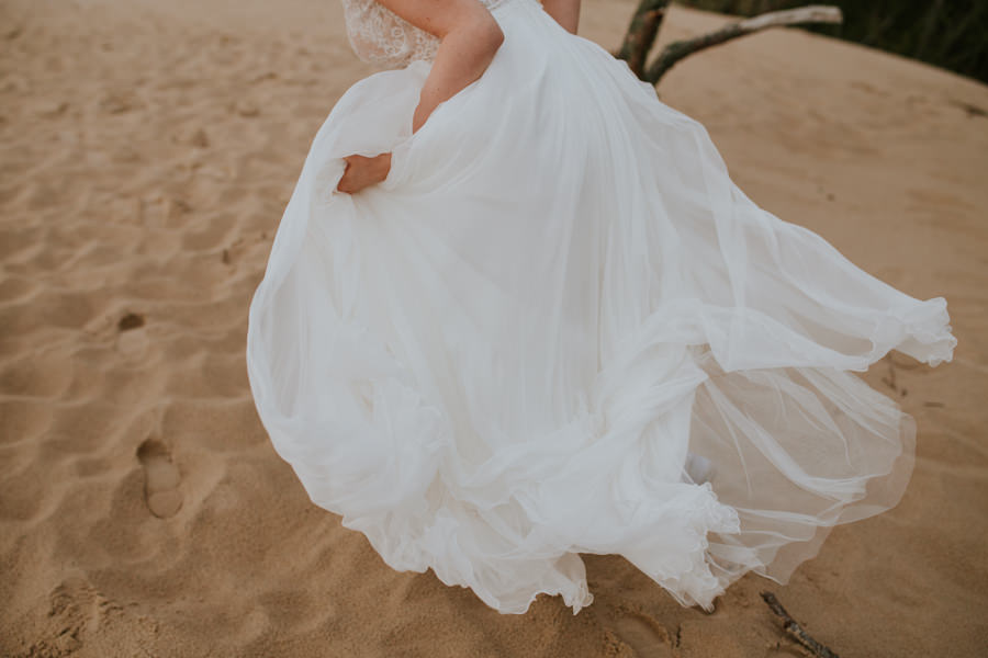 suknia ślubna na plarzy