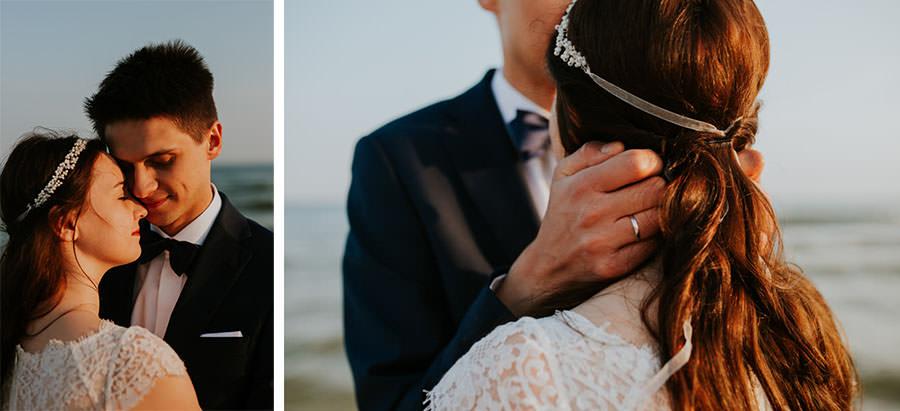romantyczny plener ślubny nad polskim morzem