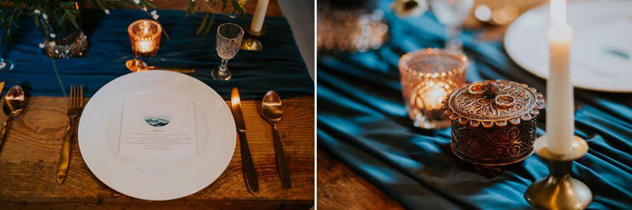 ręcznie malowane zaproszenia ślubne morskie fale