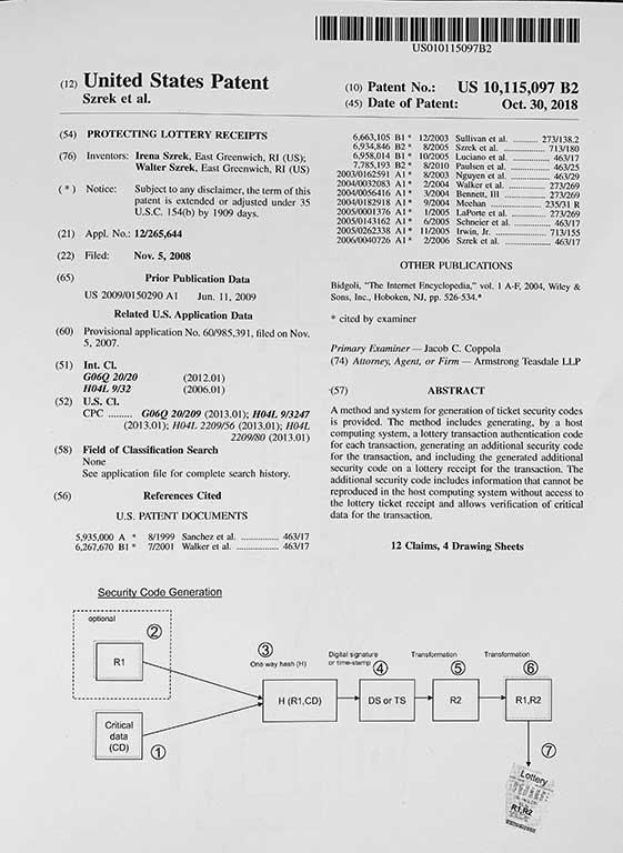 trusted ticket patent 2018