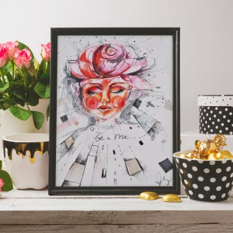 Poster mock up with glamour and elegant objects