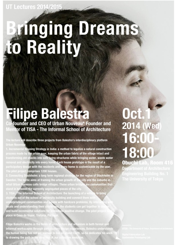 Filipe Balestra University of Tokyo Advanced Design Studies Lecture