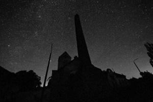 Sternenhimmel über der ehemaligen Irrenanstalt am Domjüchsee