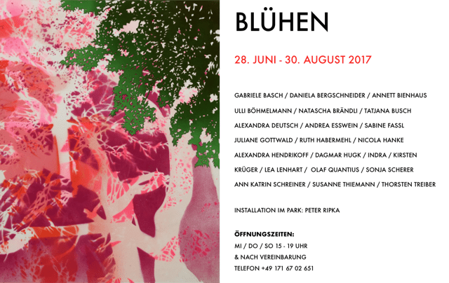 Ausstellung BLÜHEN – Galerie UpArt