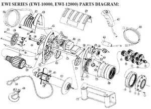 TMAX Winches: EWI Series Winch parts list