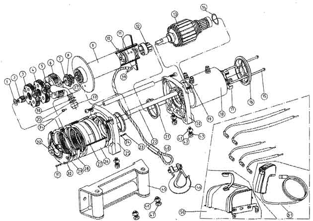 T-MAX Winches: EW Series Winch parts list
