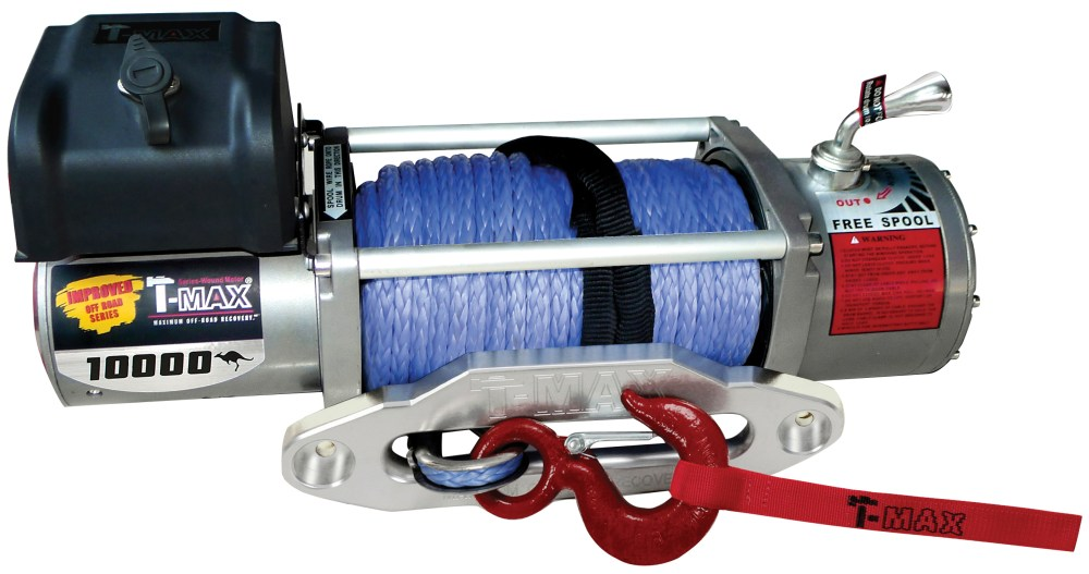 medium resolution of t max 11000lb 12v electric winch spooled with synthetic rope