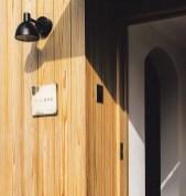 木下地への施行例 表札:くらし設計室