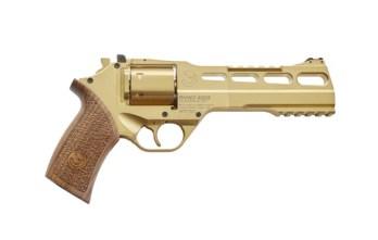 CHIAPPA RHINO 6″ 60DS Revolver   Gold   .357 Magnum/.38 Special (340.225)