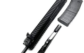 IFC 410ARU Complete Upper For AR15 – .410ga | 18.5″ Barrel | 10rd mag | Flip-up sights | Aluminum Quad Rail Handguard