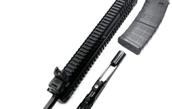 IFC .410 ARU Complete Upper For AR15 – .410ga | 18.5″ Barrel | 10rd mag | Flip-up sights | Aluminum Quad Rail Handguard
