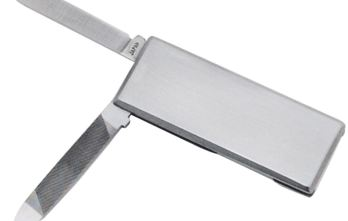 AL MAR – Cash Clip with knife and Fingernail file