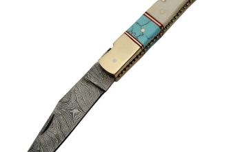 Damascus – Bone Turquoise Folder