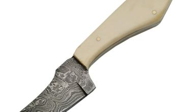 Damascus – Fixed Blade Skinner Bone