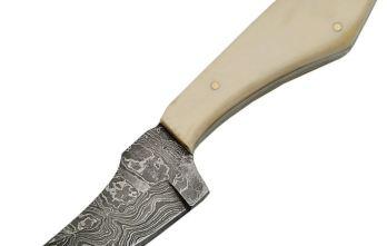 Damascus – Fixed Blade Skinner Bone