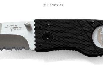 Hoffner 3.5 Flatline Black Grips | Silver Combo blade (FK-S3CSS-FB)