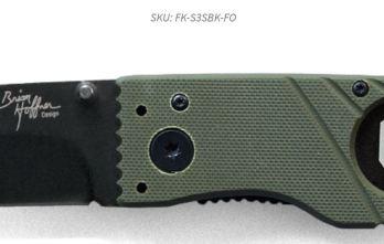 Hoffner 3.5 Flatline Oive Grips | Black Smooth Blade (FK-S3SBK-FO)