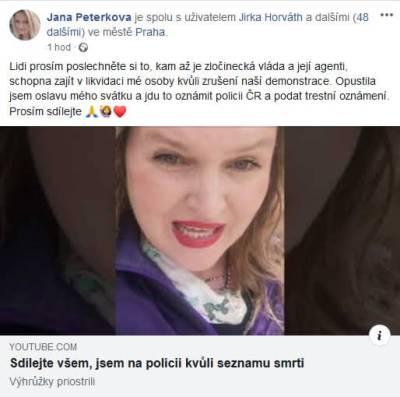 Jana Peterková a HATE na vládu 2