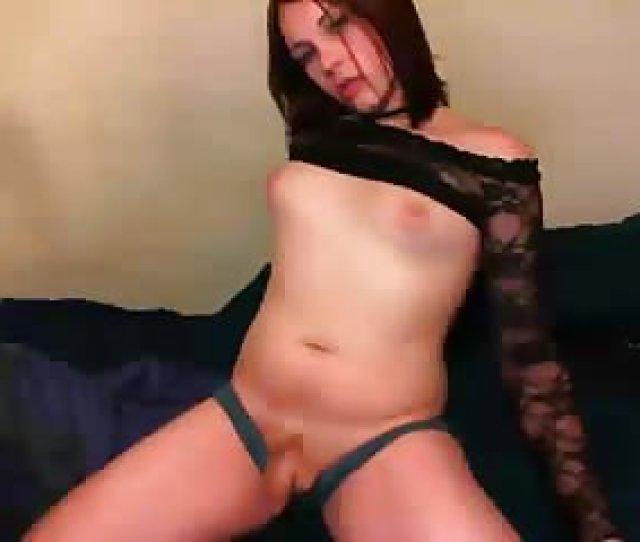 Teen Tranny Posing For Webcam