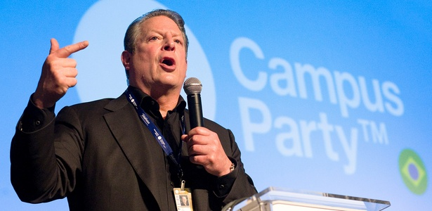 Al Gore, ex-vice-presidente dos EUA, participou nesta terça-feira (18) da Campus Party