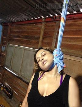suicidal nude girl hanging