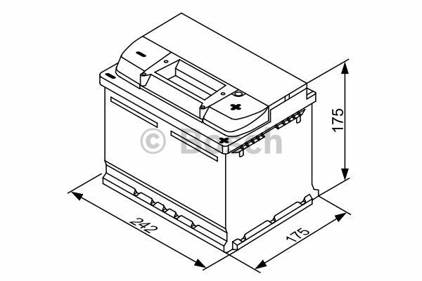 Akumulator BOSCH 0 092 S30 041 Chrysler PT CRUISER (PT_) 2