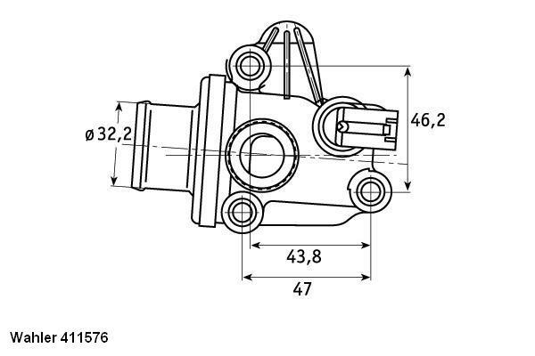 Termostat układu chłodzenia WAHLER 411576.87D Mercedes