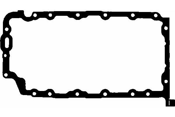 Uszczelka miski olejowej GLASER X54631-01 Opel VECTRA C