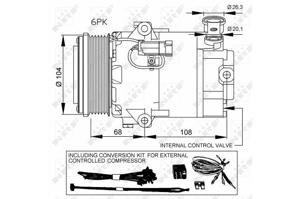 Kompresor klimatyzacji NRF 32428 Opel ASTRA H (L48) 1.7