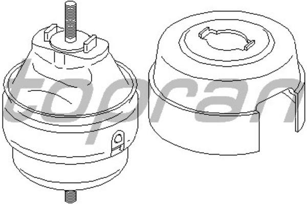 Poduszka silnika TOPRAN 110 387 Audi A4 (8E2, B6) 1.9 TDI