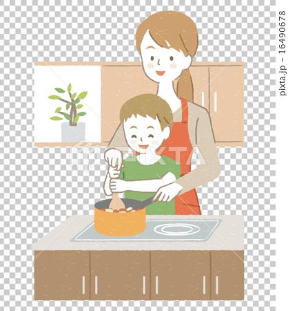 macys kitchen aid floors 妈妈母亲援助 图库插图 16490678 pixta 妈妈母亲援助16490678