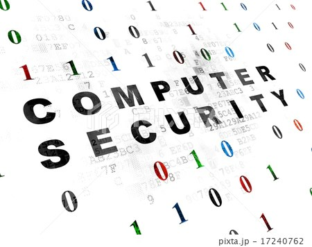 Safety concept: Computer Security on Digital backgroundの