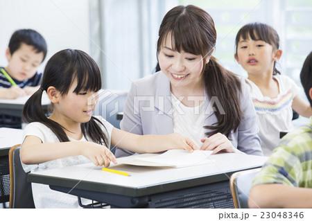 先生と小學生の寫真素材 [23048346] - PIXTA