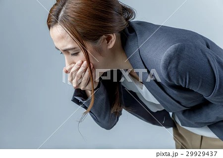 吐き気を催す女性の寫真素材 [29929437] - PIXTA