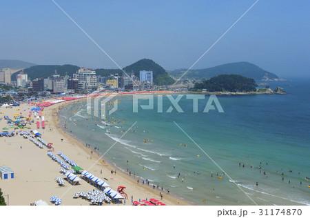 釜山 松亭海水浴場 韓國の寫真素材 [31174870] - PIXTA