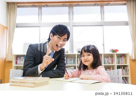 先生 小學生の寫真素材 [34130811] - PIXTA
