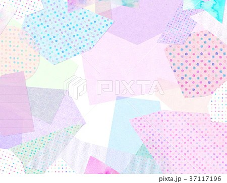 紙 コラージュ 背景素材のイラスト素材 [37117196] - PIXTA
