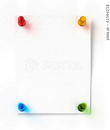 メモを押しピンで留めるのイラスト素材 [41564258] - PIXTA