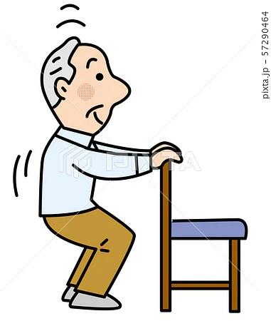 椅子を使ってスクワットのイラスト素材 [57290464] - PIXTA